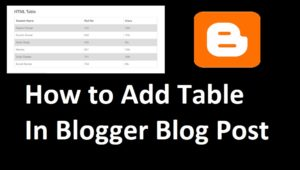 how to make table in blogger post