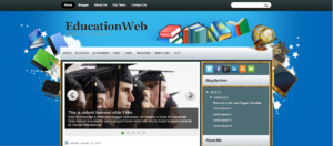 education blogger template