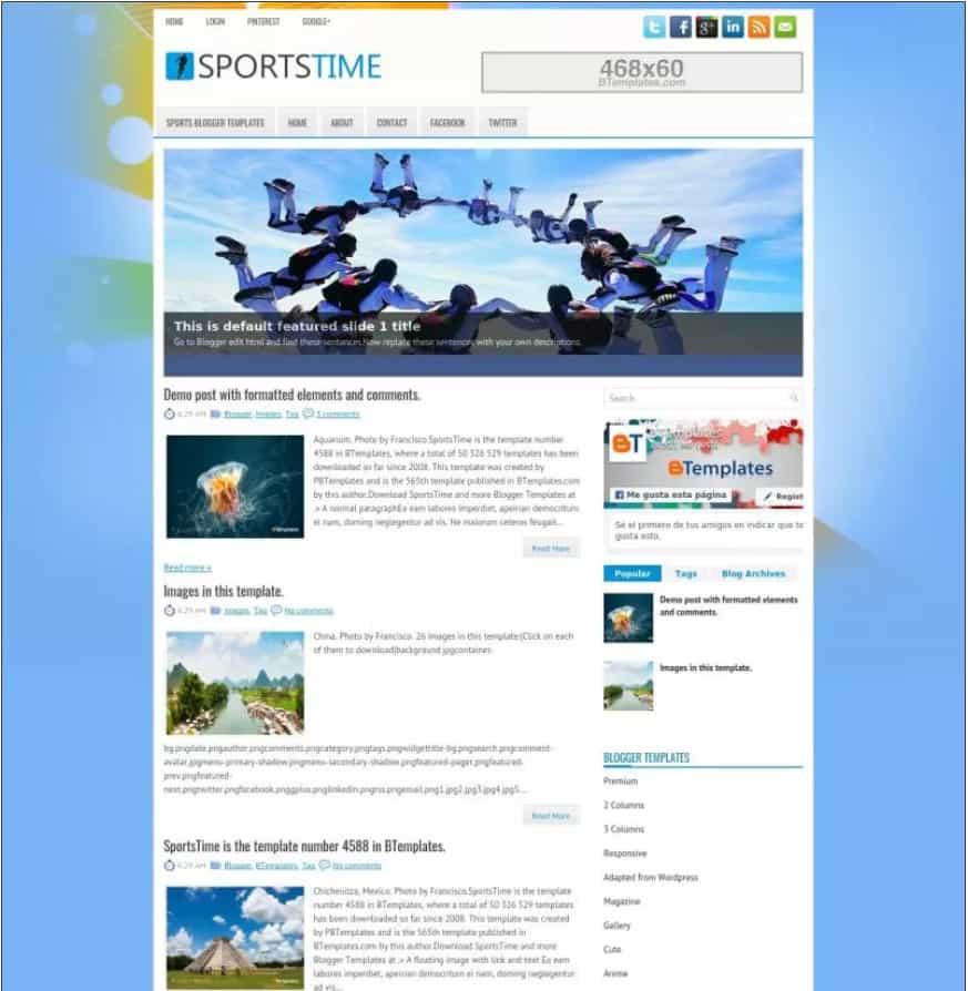 sportstime Lyricist Blogger Template