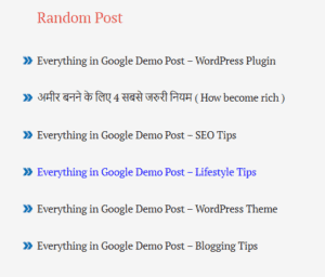 random post widget for blogger without thumbnail