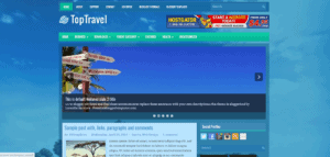 responsive travel blogger template