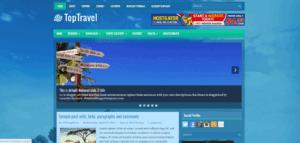 responsive travel blogger template