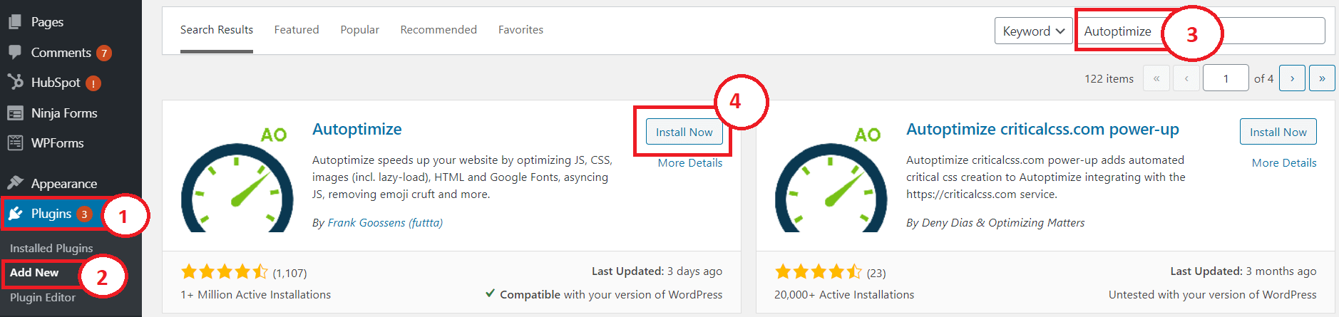 autoptimize plugin to speed up wordpress site