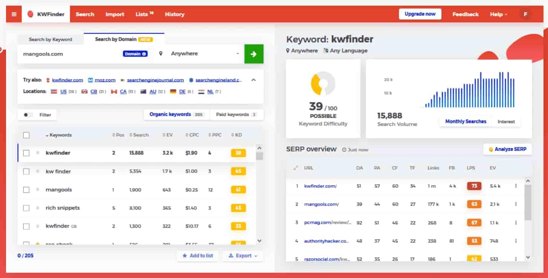 keyword reserch tool