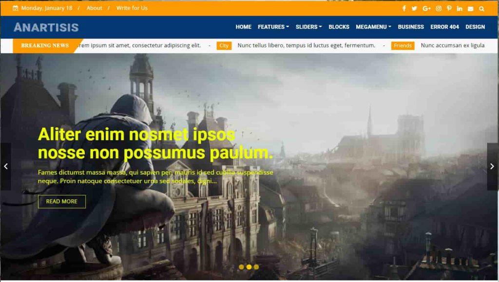 Anartisis News Magazine Blogger Theme
