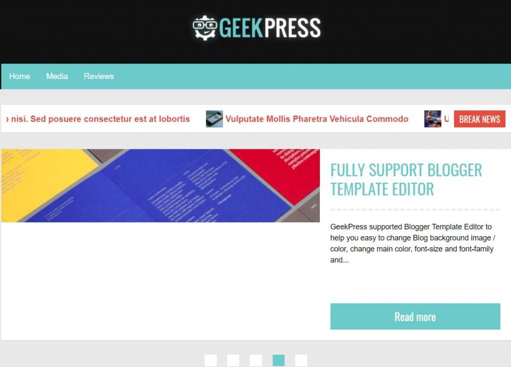 Geek Press Responsive News & Magazine Blogger Template
