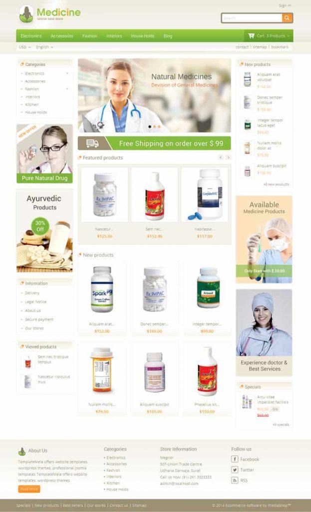 Pharmacy WordPress Theme Free Download