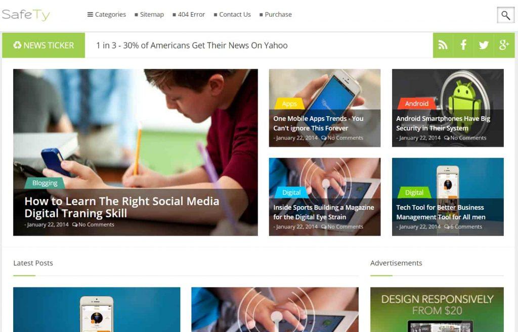 Safety Responsive MultiPurpose Blogger Template