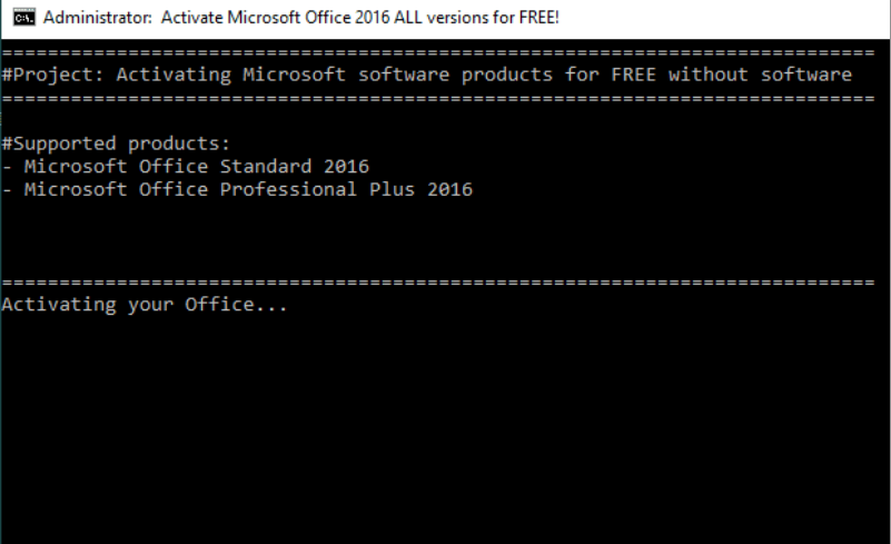Activate Microsoft office 2016 all version for free