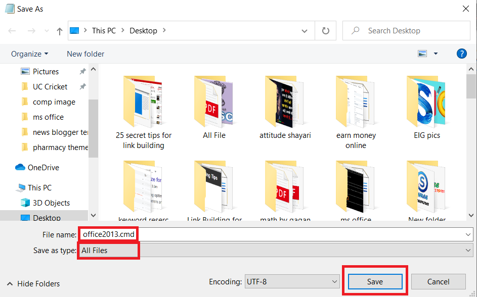 cmd file for ms office 2013