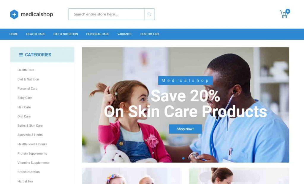 Medical Shop is superbly innovative pharmacy WordPress theme
