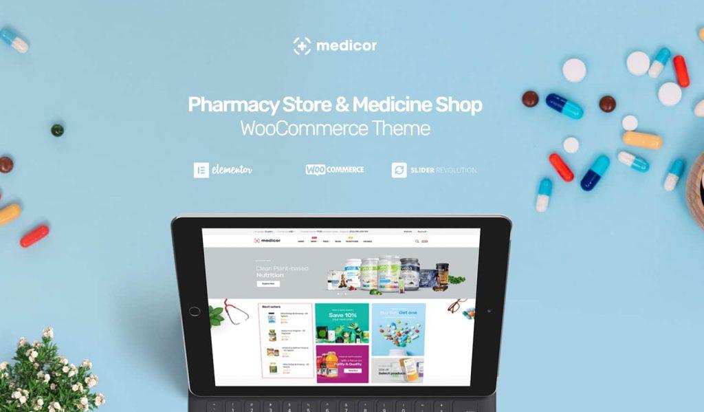 medicor pharmacy wordpress theme for free download