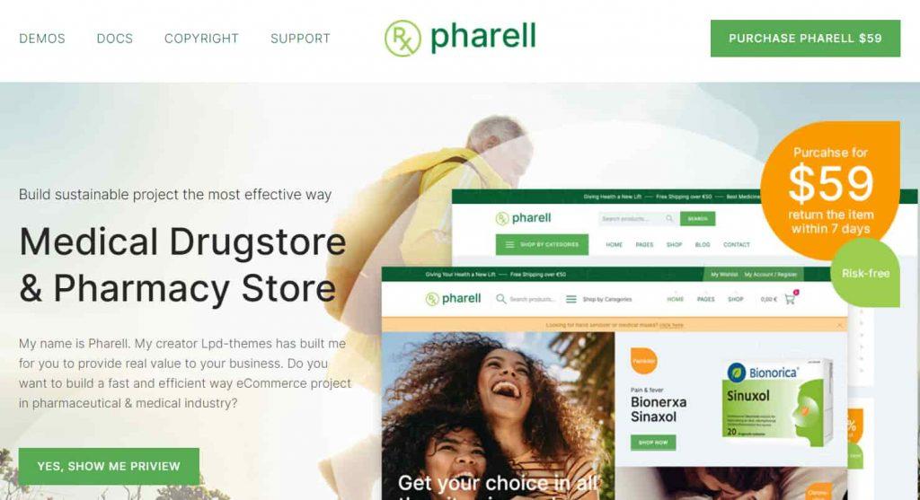 pharmacy wordpress theme