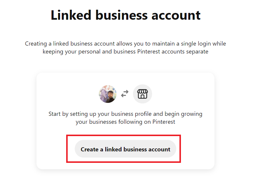 Create a linked business account