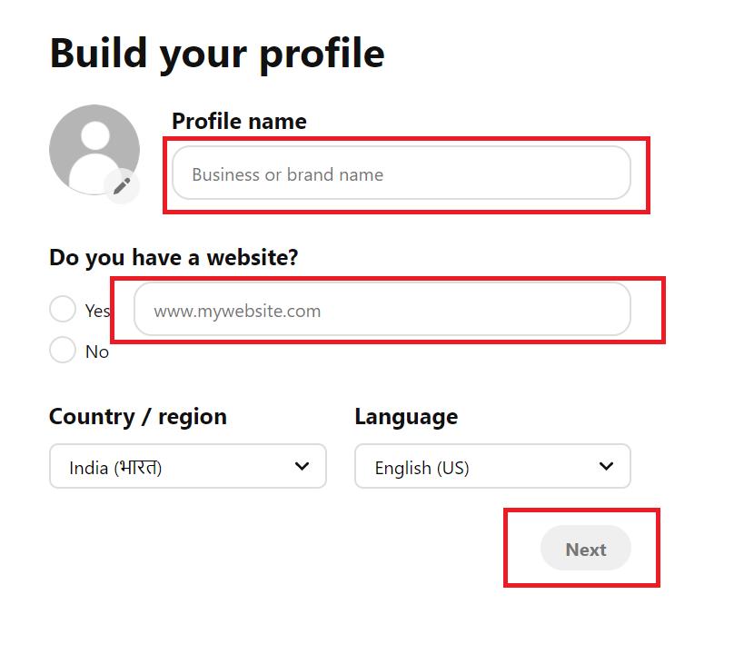 build your pinterest business profile