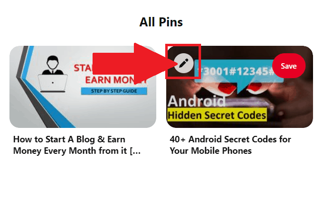 How to Unpin a Pin on Desktop