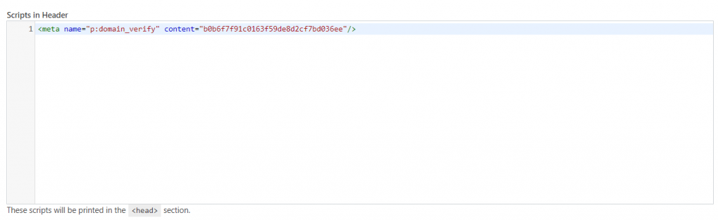 paste the HTML tag
