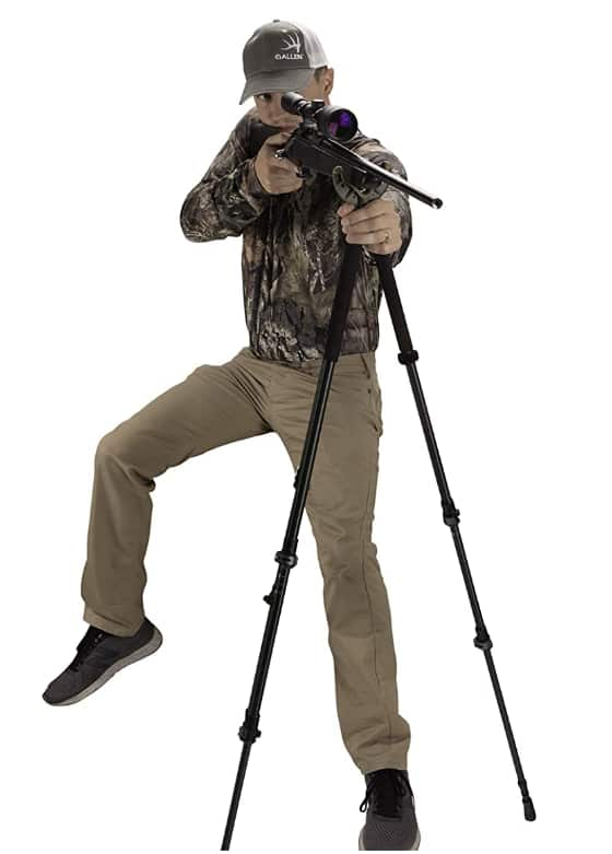 Best Axial Tripod Shooting Stick for Hunting