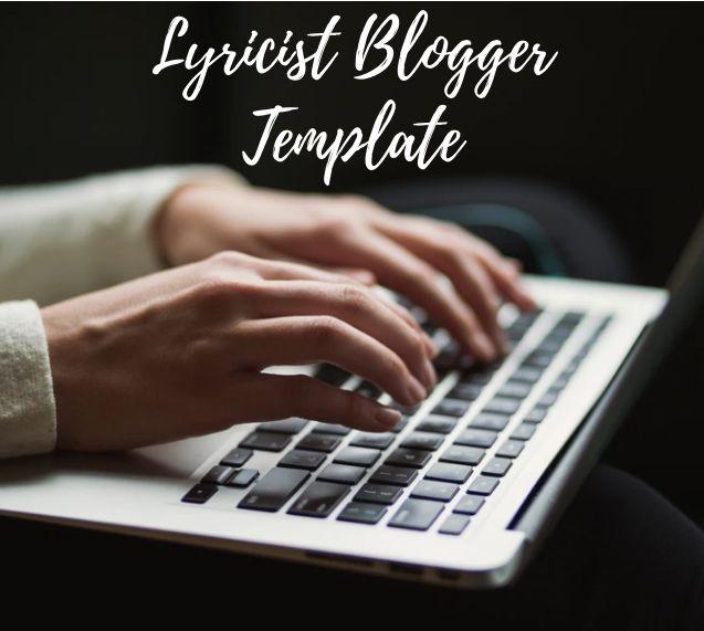 Best Responsive Lyricist BlogSpot Template 2021