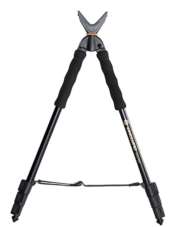 Vanguard Best Bipod Shooting Stick with V-Shaped Rotating Yoke