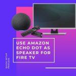 Use Amazon Echo Dot as Speaker for Fire TV