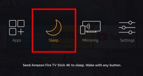 fire stick sleep mode