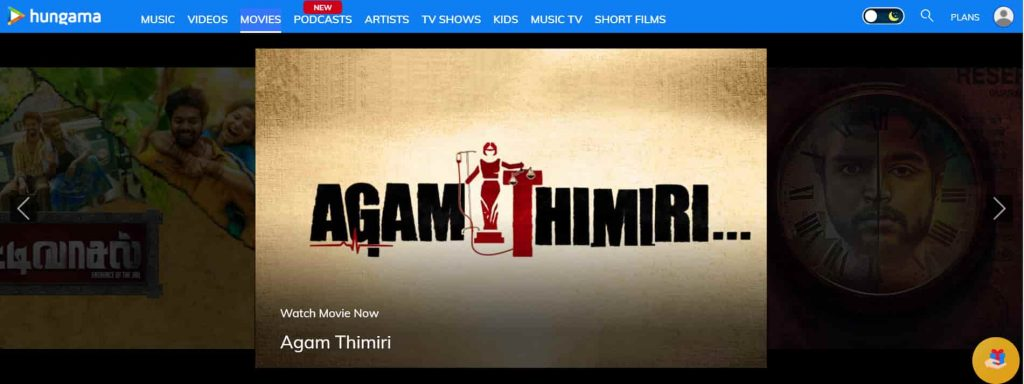 hungama best site for online tamil movie in high quality