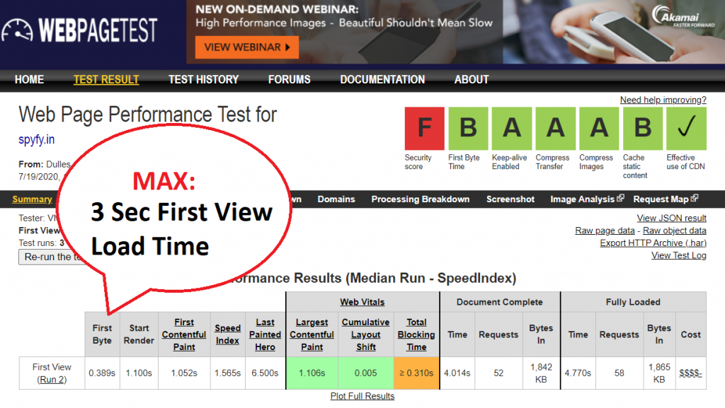 web page test tool