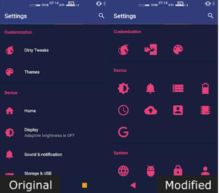 settings editor