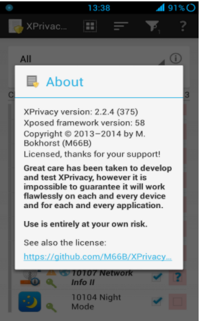 XPrivacy best xposed modules