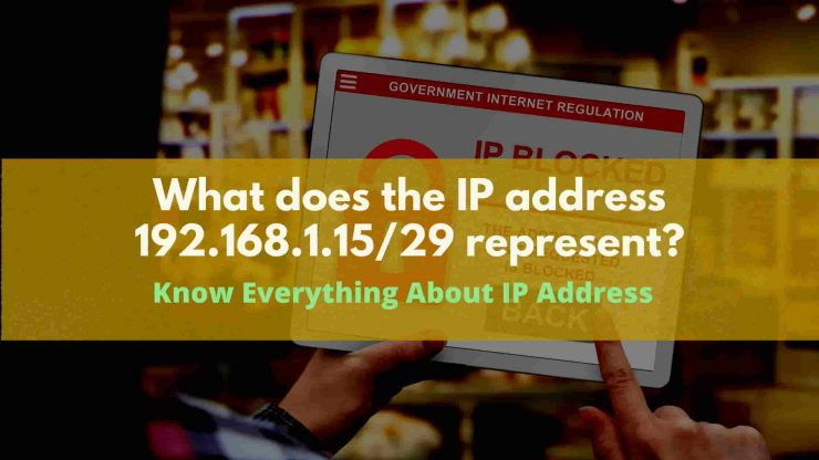What does the IP address 192.168.1.1529 represent