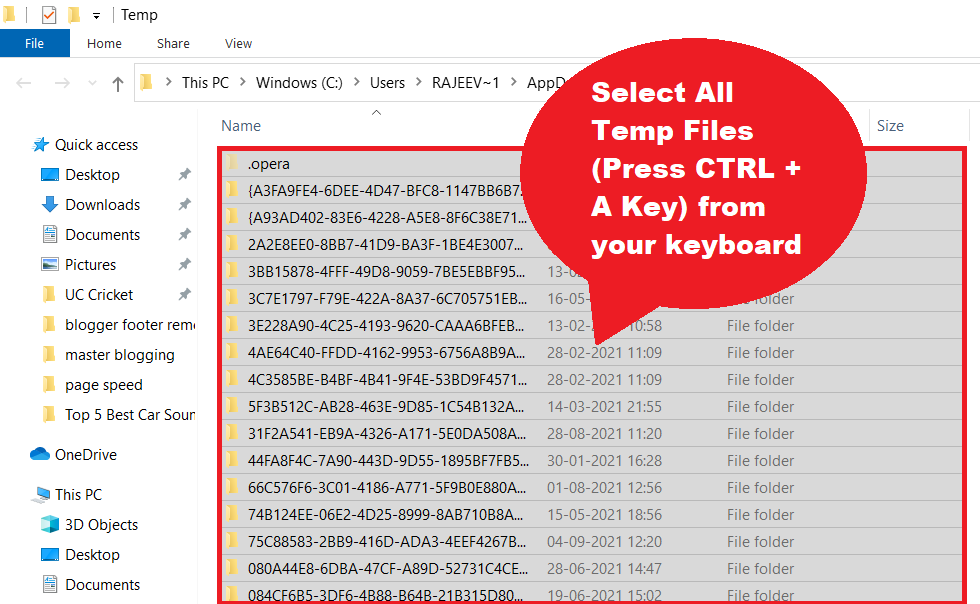 delete all temp files from computer